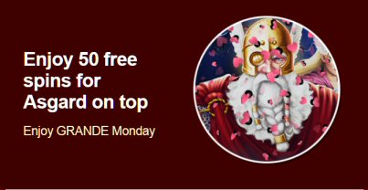 50 Free Spins At Grande Vegas Casino