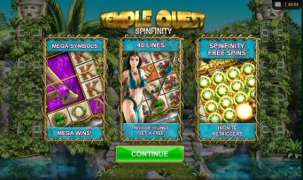 Temple Quest Spinfinity Video Slot Review By Big Time Gaming