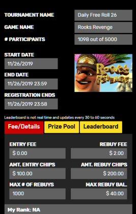 Daily Freeroll At Drake Casino