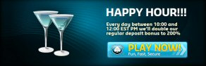 Happy Hour Bonus At Silver Oak Casino