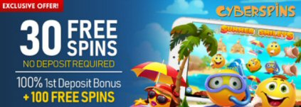 30 free spins At CyberSpins Casino