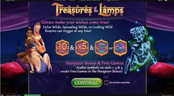 Treasures Of The Lamps Video Slot Review By Playtech
